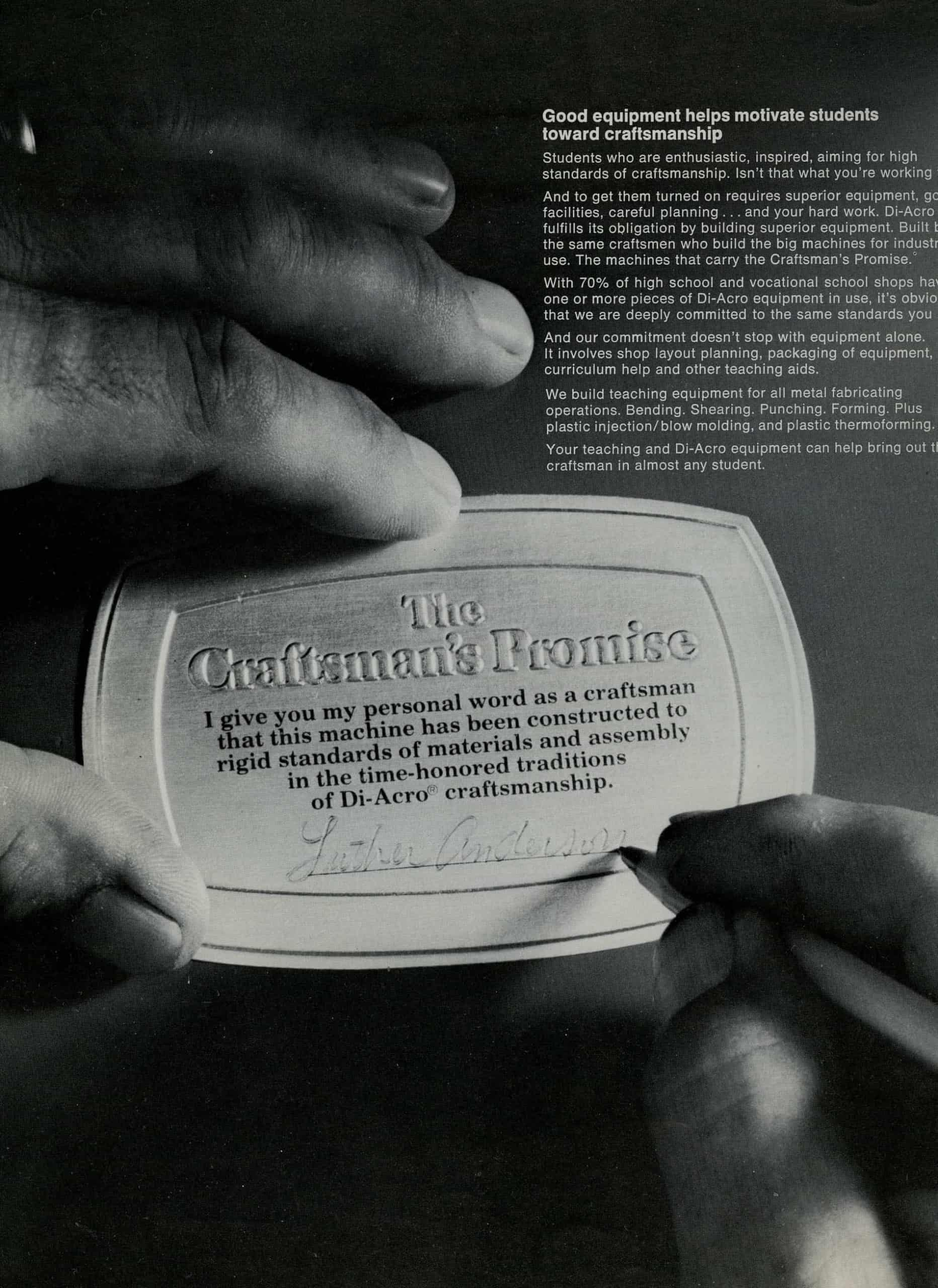 Craftsman's Promise